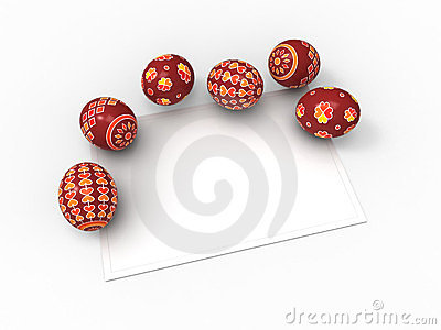 Easter eggs, and card for the wishes