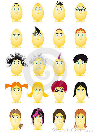 Easter Eggs Cartoon Character