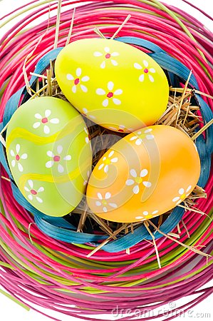 Easter eggs and decoration