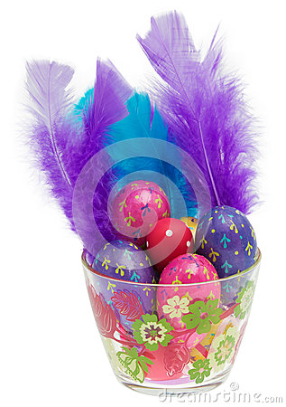 Easter eggs in glass
