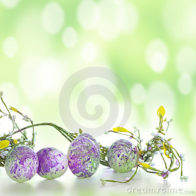 Easter eggs in green