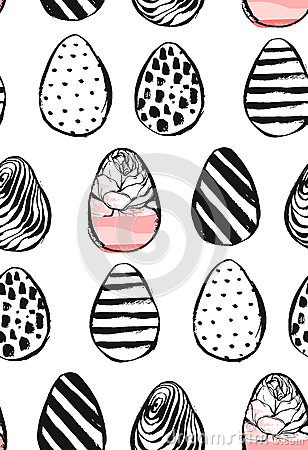 Easter eggs icons. Vector illustration. Easter eggs for Easter holidays design on white background. Vector Illustration