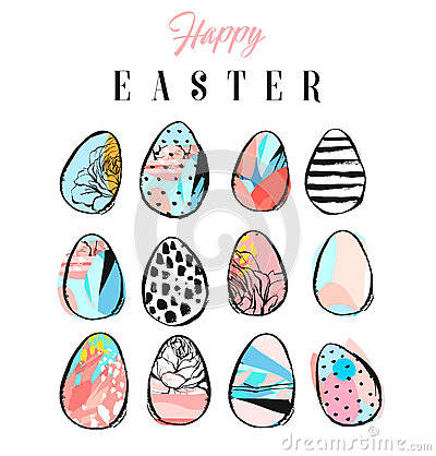 Easter eggs icons. Vector illustration. Vector Illustration