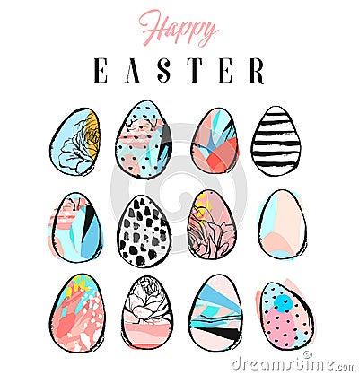 Easter eggs icons. Vector illustration. Vector Illustration