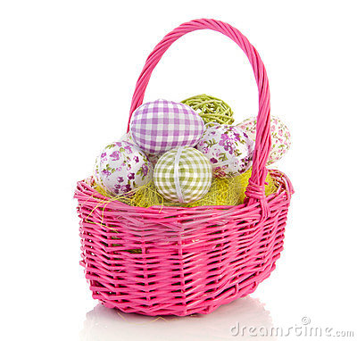 Free Easter Eggs In A Basket Stock Photography - 23811582