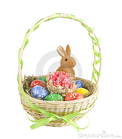Free Easter Eggs In The Basket Royalty Free Stock Image - 23799446