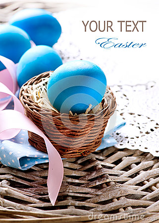 Free Easter Eggs In The Basket Royalty Free Stock Images - 29854729