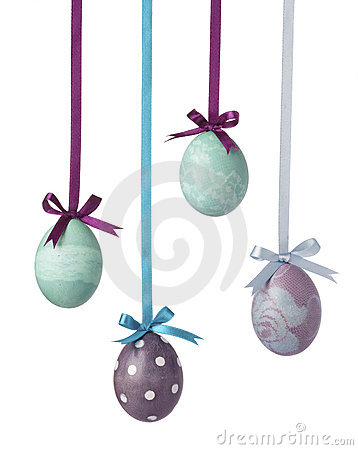 Free Easter Eggs Isolated On White Royalty Free Stock Image - 17859986
