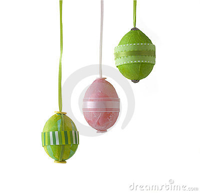 Easter eggs isolated on white with clipping path