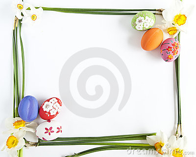 Easter eggs and Narcissus