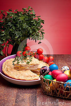 Easter Eggs And Pizza Rustica