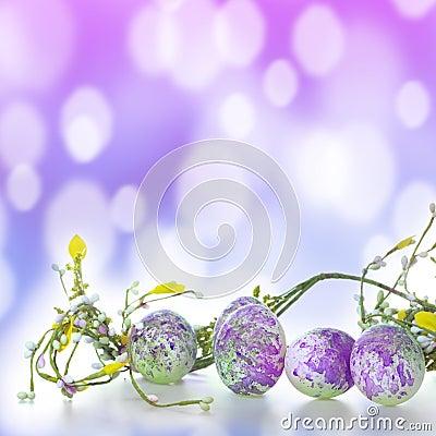 Easter eggs in purple