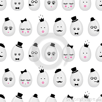 Free Easter Eggs Seamless Pattern Background. Stock Images - 59644474