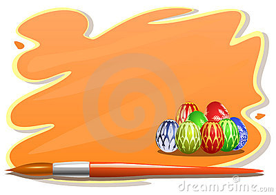 Easter eggs sticker