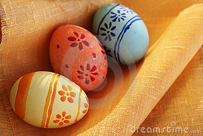 Easter eggs on textile