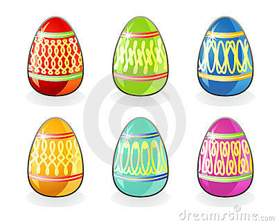 Easter eggs / vector