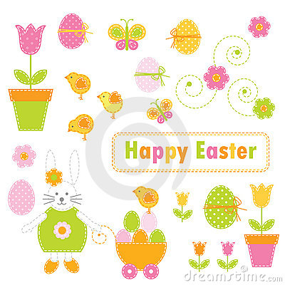 Free Easter Elements Royalty Free Stock Photography - 13141437