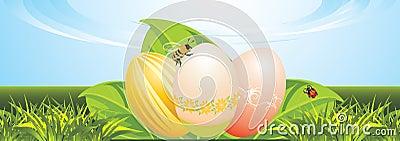 Easter festive banner