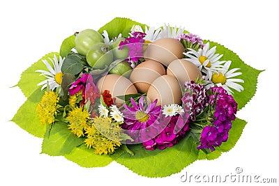 Easter floral  nest concept