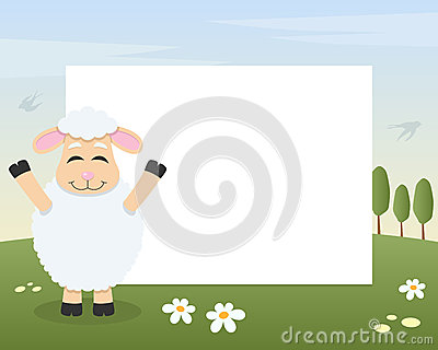 Easter Funny Lamb Photo Frame