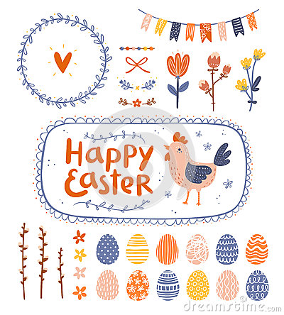 Free Easter Graphic Set Stock Photo - 37486220