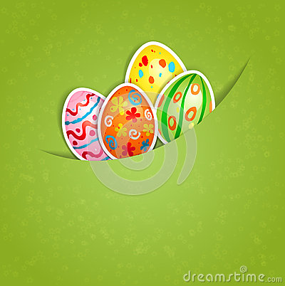 Easter green background with egg
