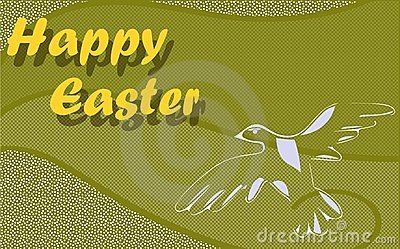 Nice Easter greeting card with dove