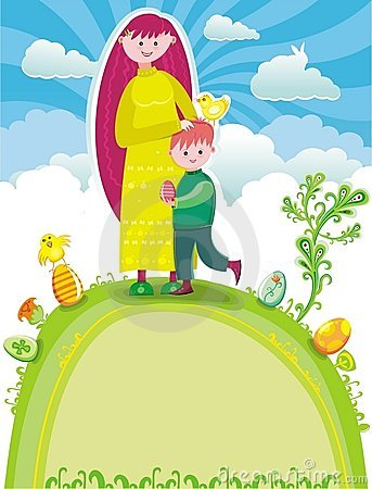 Free Easter Greeting Card Royalty Free Stock Photography - 8567257