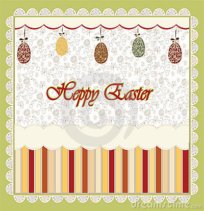 Easter greeting with egg vector
