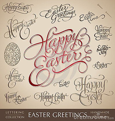 Free Easter Hand Lettering Set (vector) Stock Photo - 24117200