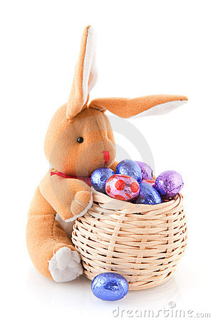 Easter hare with eggs