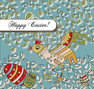 Easter Holiday Greeting With a Silly Chicken