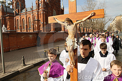 Easter Holy Week Editorial Stock Photo