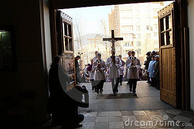 Easter Holy Week in Moscow Editorial Photo