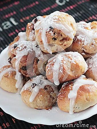 Easter hot-cross buns