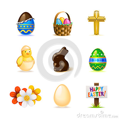 Free Easter Icon Set Stock Images - 29038234