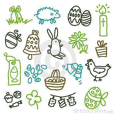 Free Easter Icons Royalty Free Stock Images - 7912449