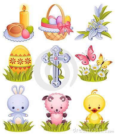 Free Easter Icons Stock Images - 8623624