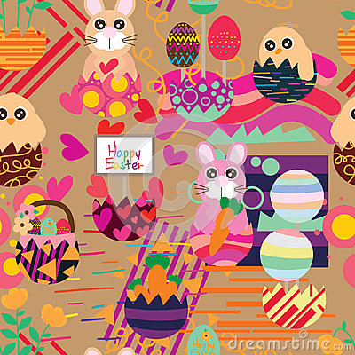 Free Easter Inside Egg Style Seamless Pattern Royalty Free Stock Photography - 86313617