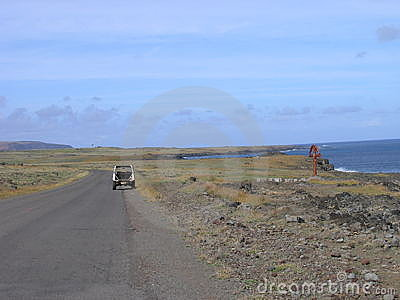Easter Island - interior and way to Rano Raraku volcano