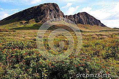 Easter Island landscape - Rano Raraku