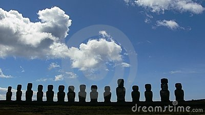 Easter Island statues outline
