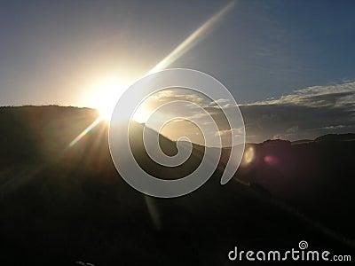 Easter Island - sunset at Rano Kau volcano