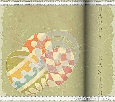 Easter jajek stary pocztówki stylu rocznik