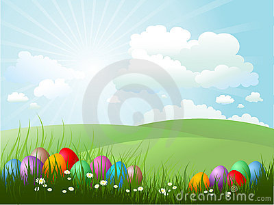 Easter jajek trawa