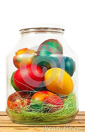 Easter jar eggs