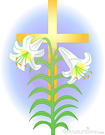 Free Easter Lily And Cross/eps Royalty Free Stock Photography - 2188867