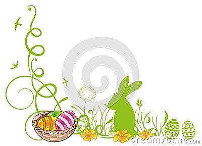 Easter, meadow, bunny