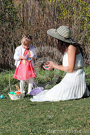 Easter Mom and Toddler