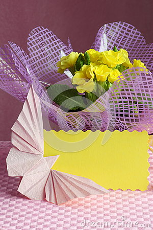 Easter , Mothers Day Card Flower Stock Photo
